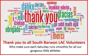 Thank you to volunteers