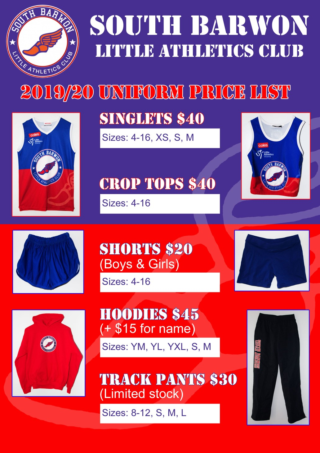 2019-20 Uniform Price List