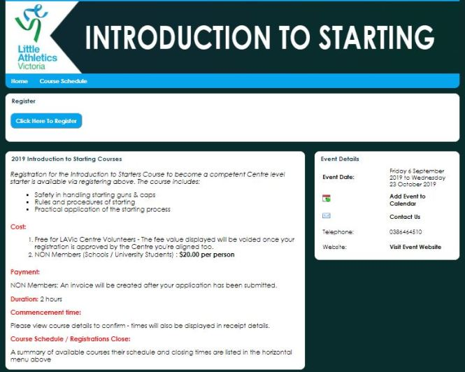 Introduction to Starting Course 10.11.2019