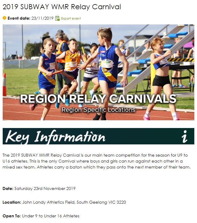 WMR Relay Carnival